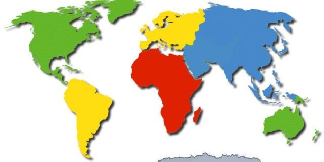 Continents En-Ru — Английские слова на тему Континенты