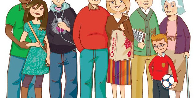 Family Members En-Ru — Английские слова на тему Члены семьи