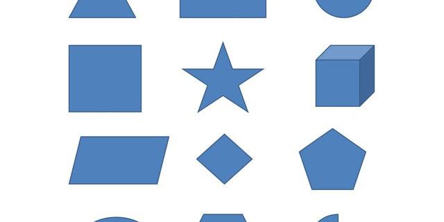 Shapes En-Ru — Английские слова на тему Формы
