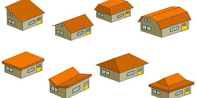 Types of Roofs En-Ru — Английские слова на тему Типы крыш
